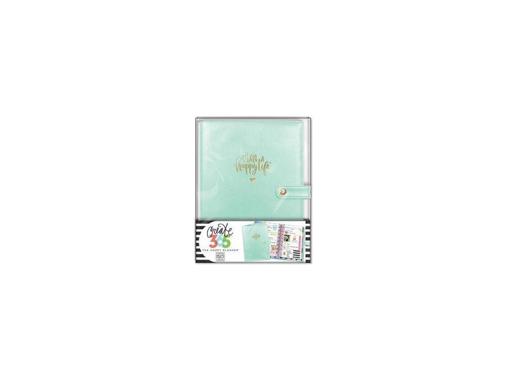 Me&My Big Ideas - MINI / CREATE 365 PLANNER / MINT - malé koženkové desky / obal