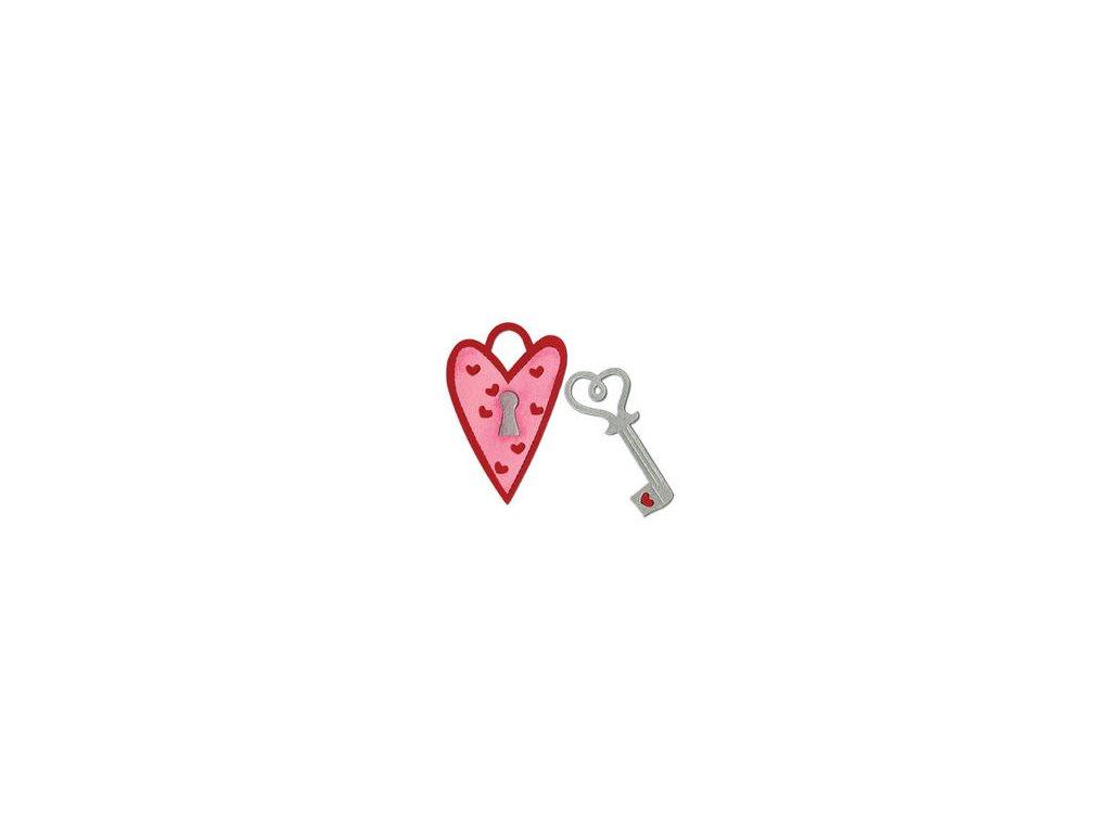 Sizzix / BIGZ - HEART LOCK & Key - vyřezávací šablona