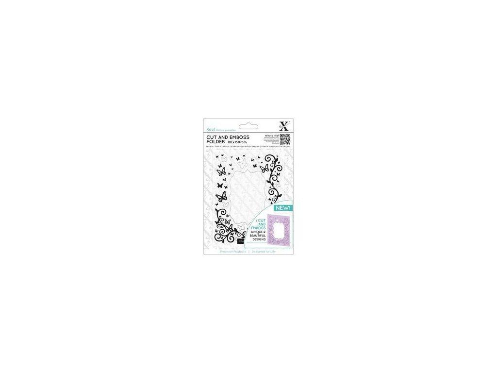 xcut butterfly frame cut emboss folder xcu 503809