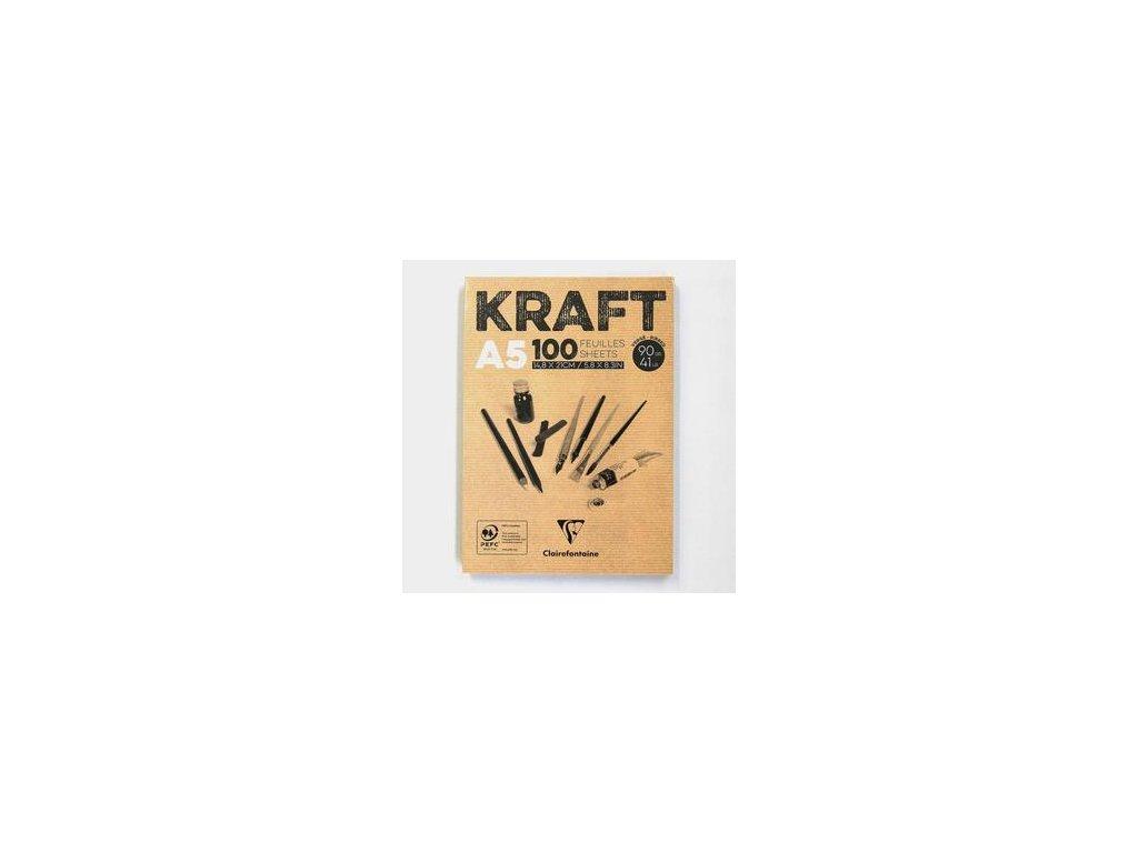 KRAFT A5 - kraft papíry, 100 ks