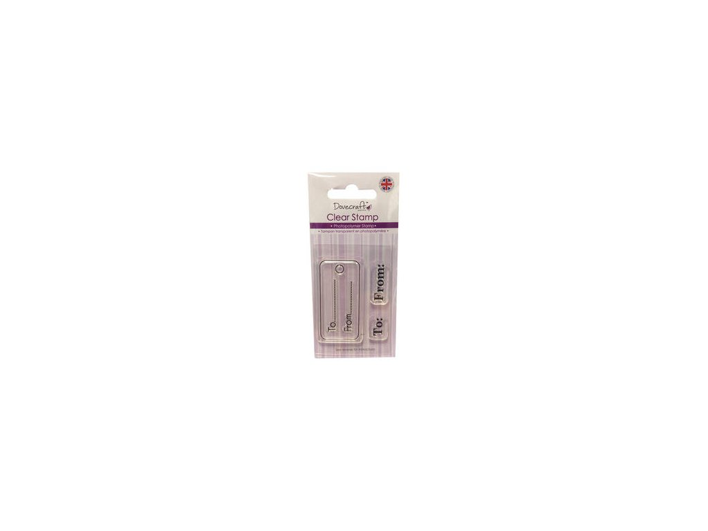 dovecraft photopolymer clear stamp gift tags 54537 p