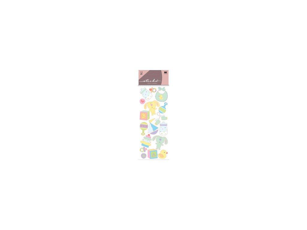Sticko - PUFFY STICKERS / BABY TOYS - samolepky