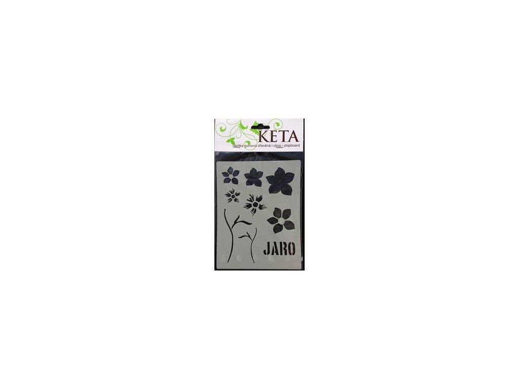 Keta - 9 / kytka - maska / šablona