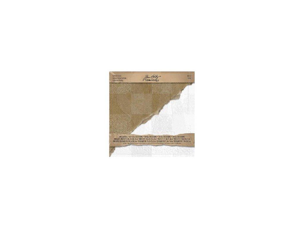 tim holtz th93112 resist paper stash motif