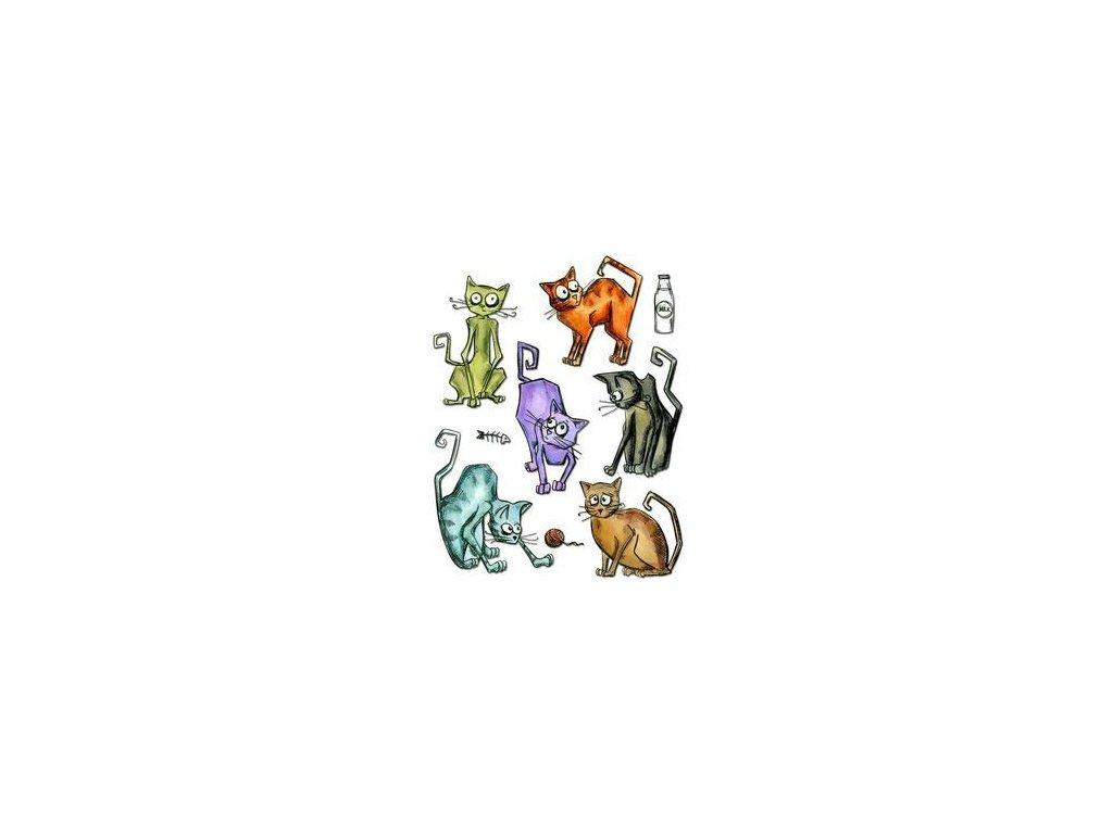 Sizzix / Framelits - CRAZY CATS - vyřezávací šablony