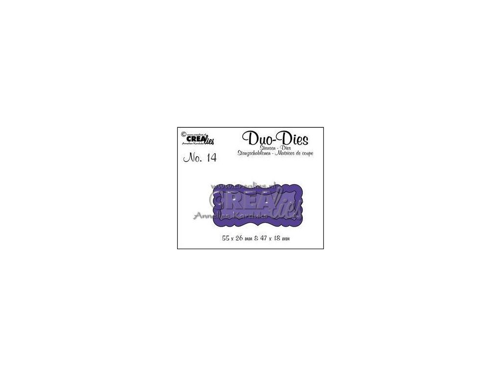 Crealies - 14 / DUO DIES / cedulky - vyřezávací šablony pro Big Shot