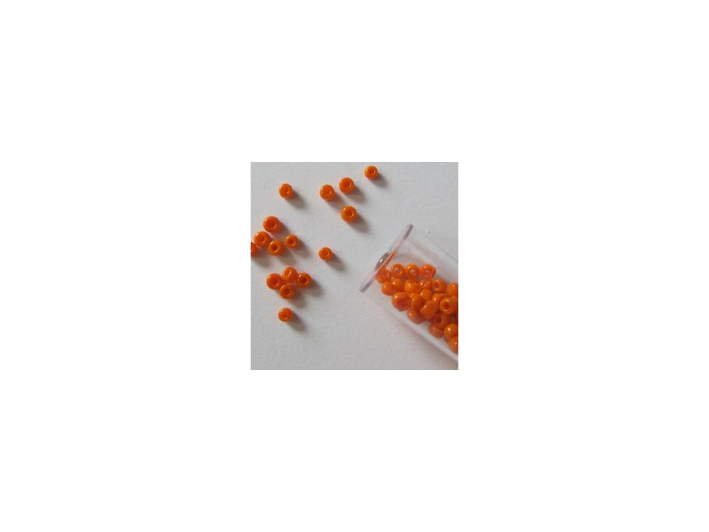 Rocailles opaque - ORANGE - 10-0 2,2MM - korálky v tubě