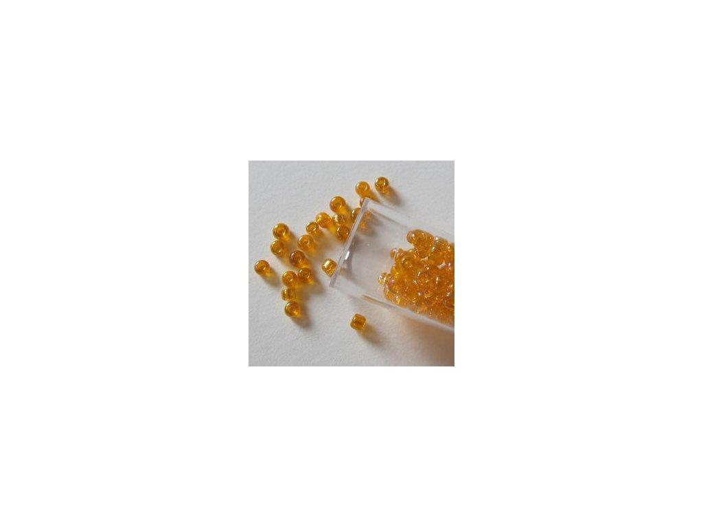 Rocailles transparent - RAINBOW ORANGE - 10-0 2,2MM - korálky v tubě