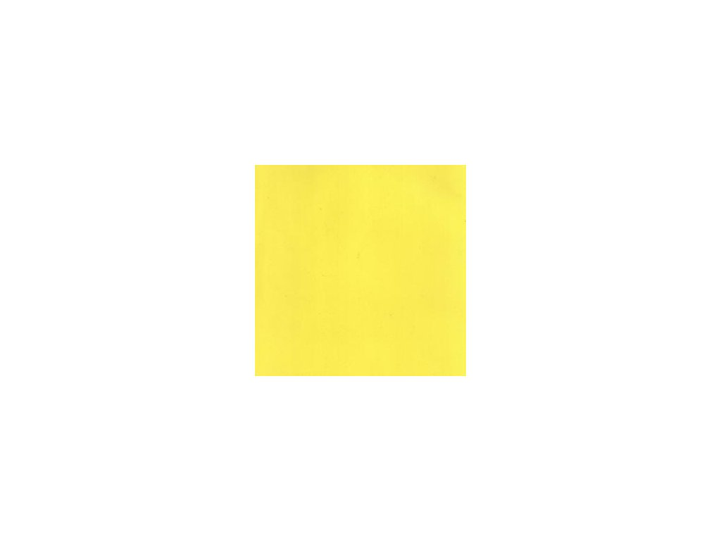 Foamiran / sytě žlutá - tenká pěnová guma 30 x 35 cm