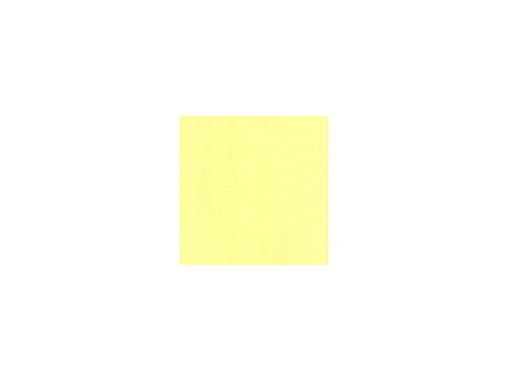 Foamiran / světle žlutá - tenká pěnová guma 30 x 35 cm