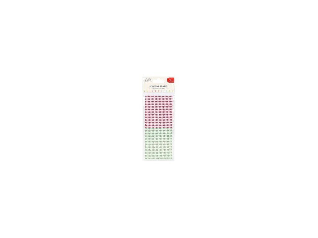 scdot050 simply creative 3mm pearls 800 pack red and green
