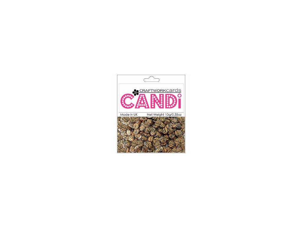 Candi - SAFARI TIGER/95 - papírová vypouklá kolečka