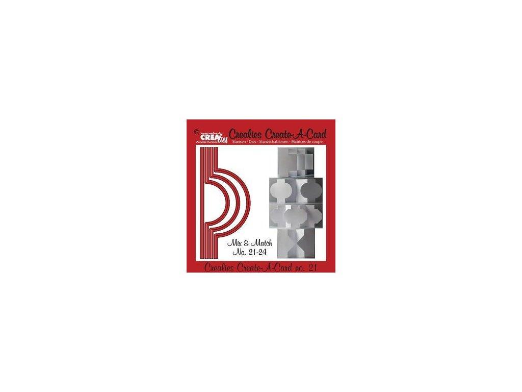 Crealies - 21 / CREATE A CARD - vyřezávací šablony pro Big Shot