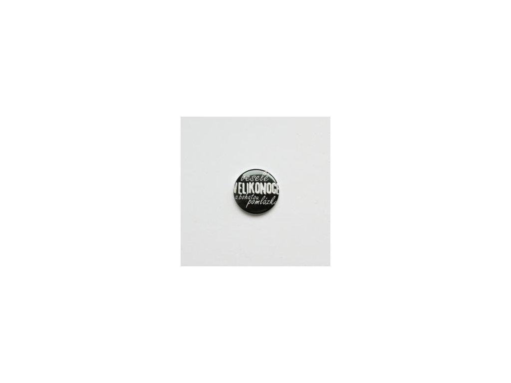Veselé VELIKONOCE a bohatou pomlázku / 46  -  3D button / placka