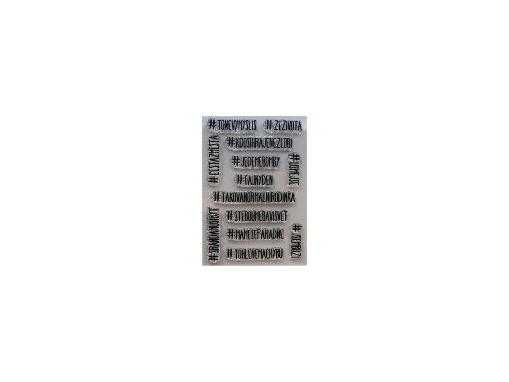 HuráPapír -  #TONEVYMYSLIS - silikonová razítka