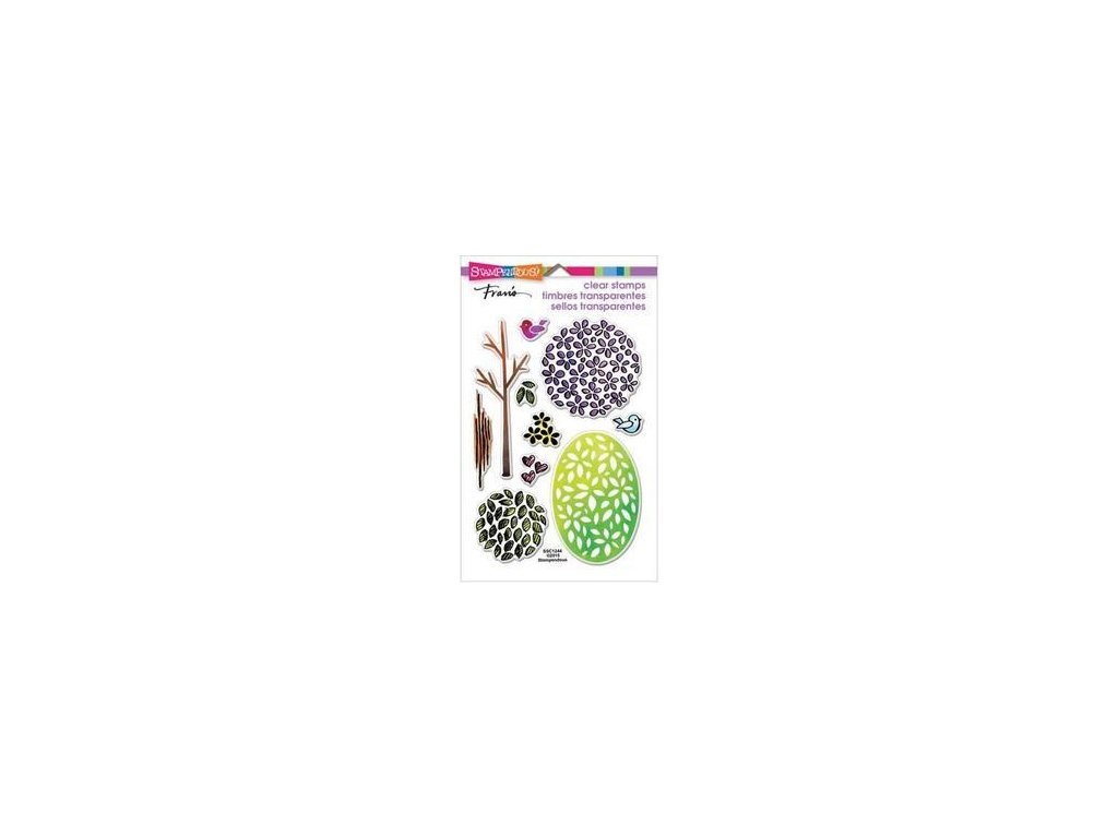 stampendous perfectly clear stamps 4 x 6 tree parts ssc1244 large