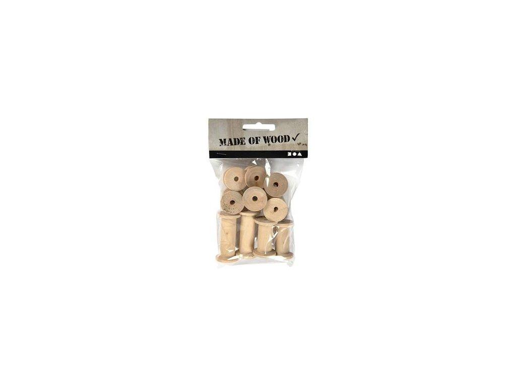 Craftwood - WOOD SPOOLS - dřevěné cívky