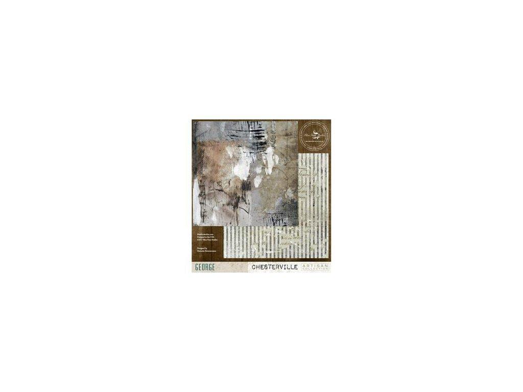 """Blue Fern Studios - GEORGE - 12"""" scrapbooková čtvrtka"""