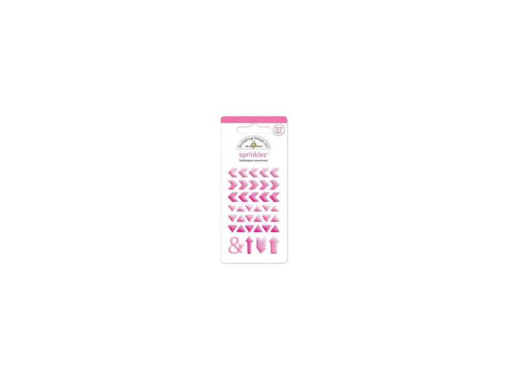 doodlebug sprinkles adhesive glossy enamel embellishments bubble gum arrows 37 pkg monos 4223 large