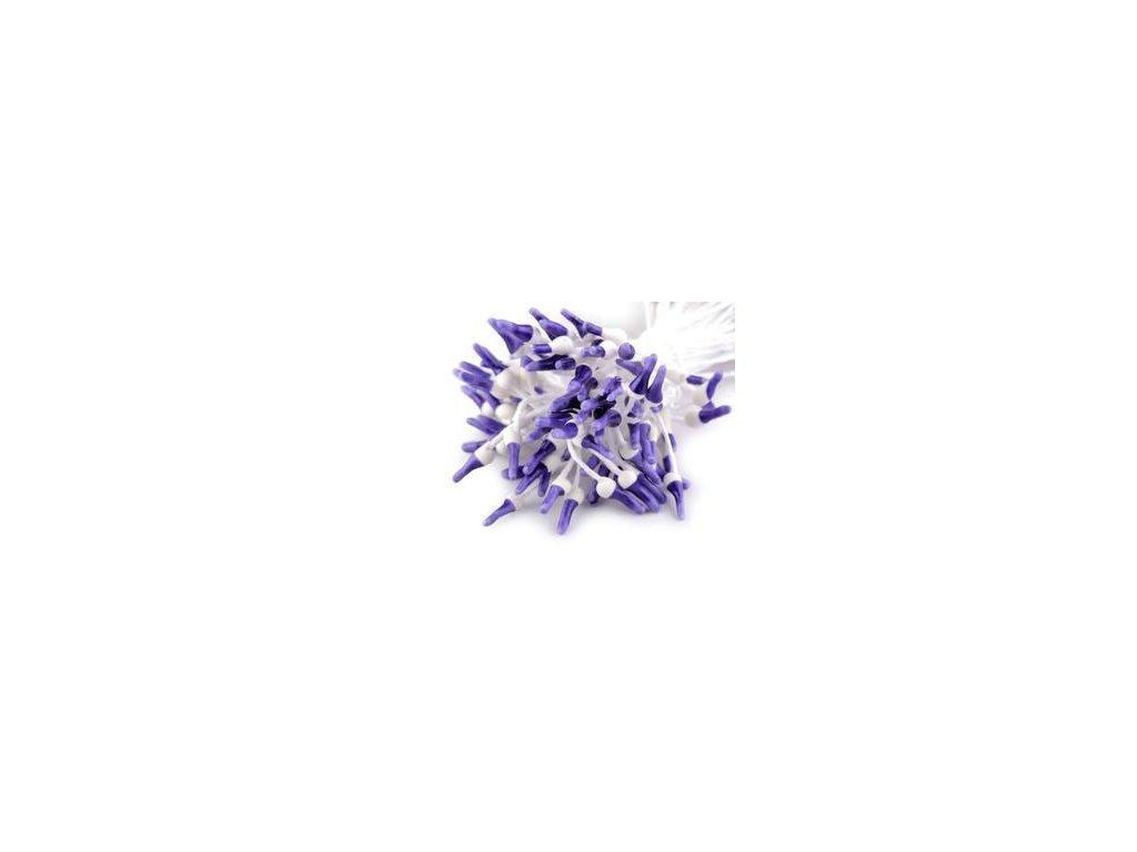 Pestíky / bílo-fialové - cca 160ks