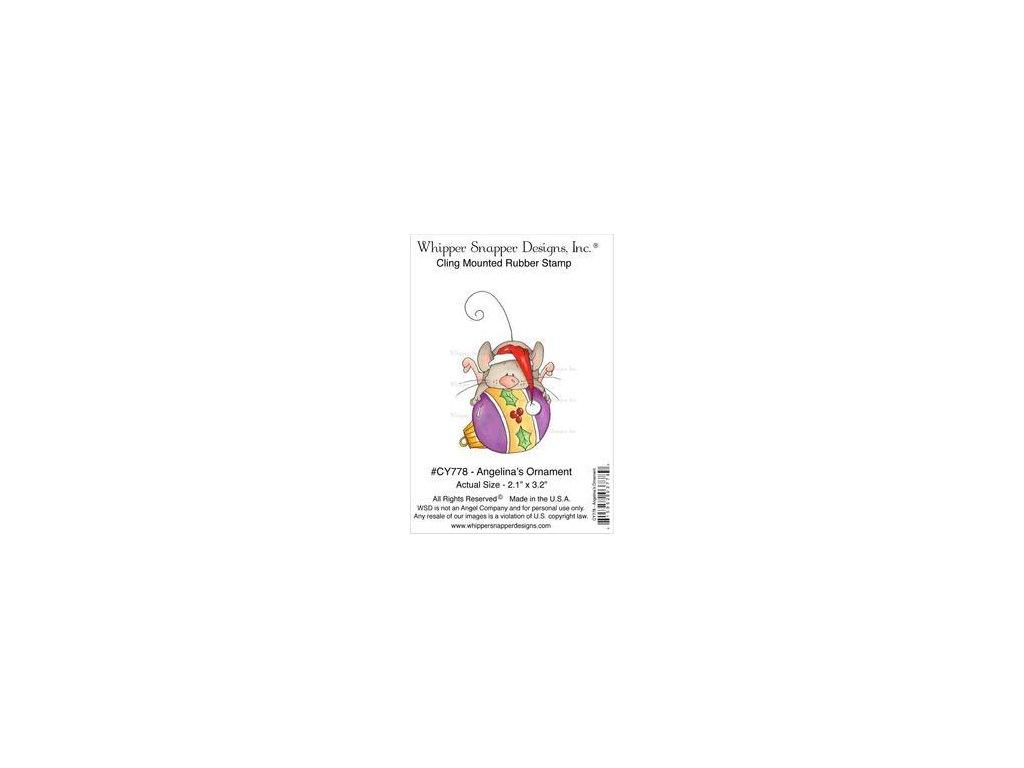 Whipper Snapper Designs - ANGELINA´S ORNAMENT - cling gumové razítko