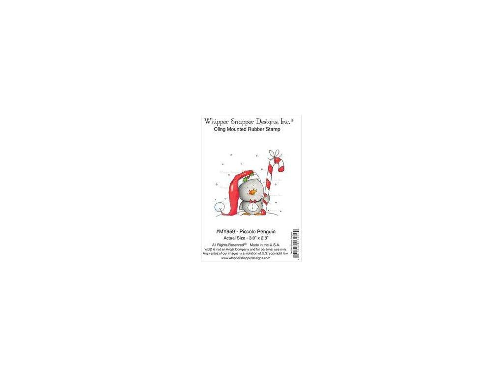 Whipper Snapper Designs - PICCOLO PENGUIN - cling gumové razítko