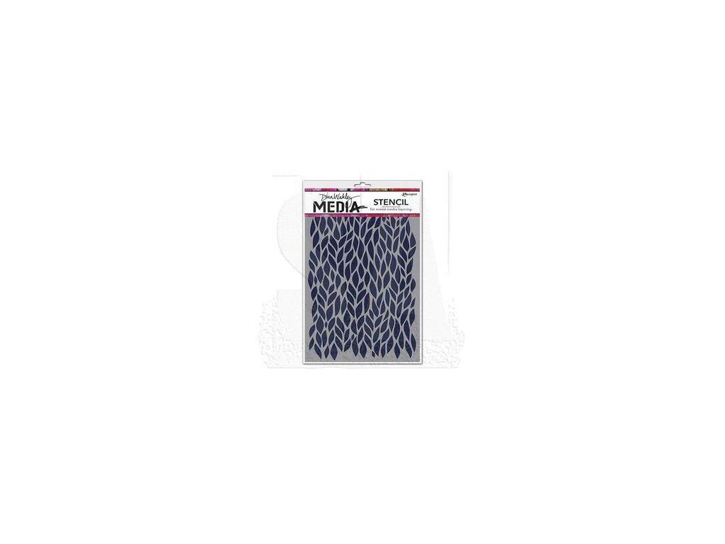 dina wakley stencil mds47506 leafy