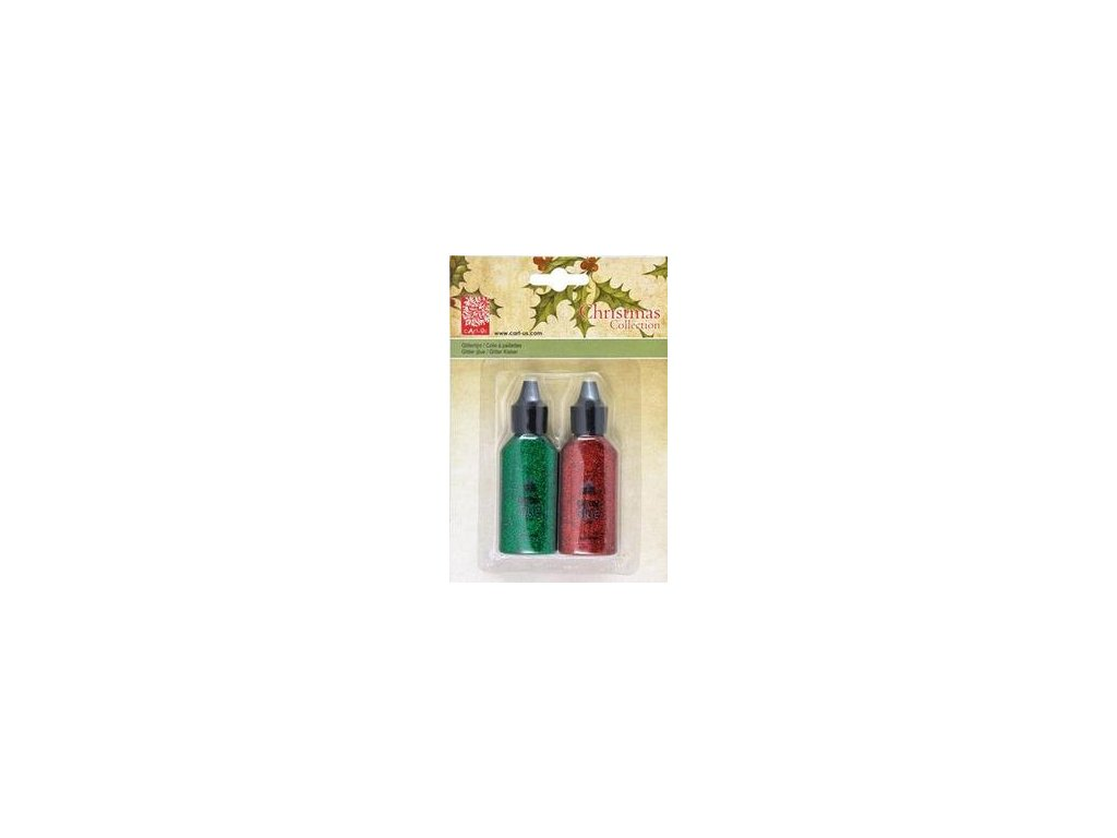 Cart-Us - GLITTER GLUE/GREEN AND RED - lepidlo se třpytkami, 2 ks