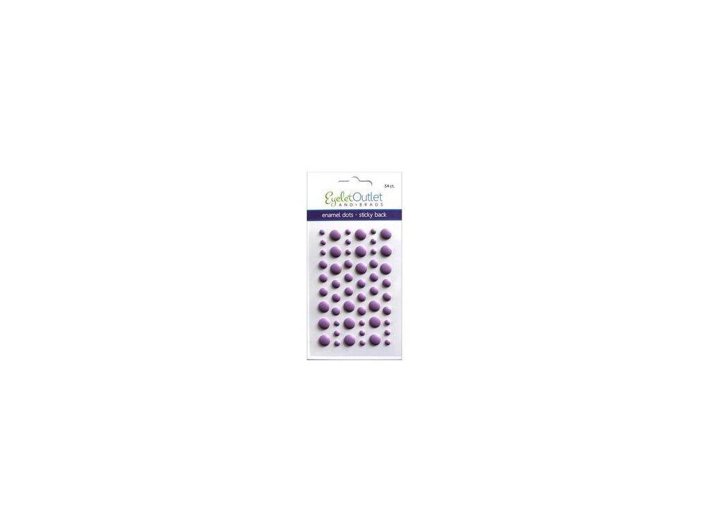 EYELET Outlet -  MATTE / VIOLET - matné enamel dots