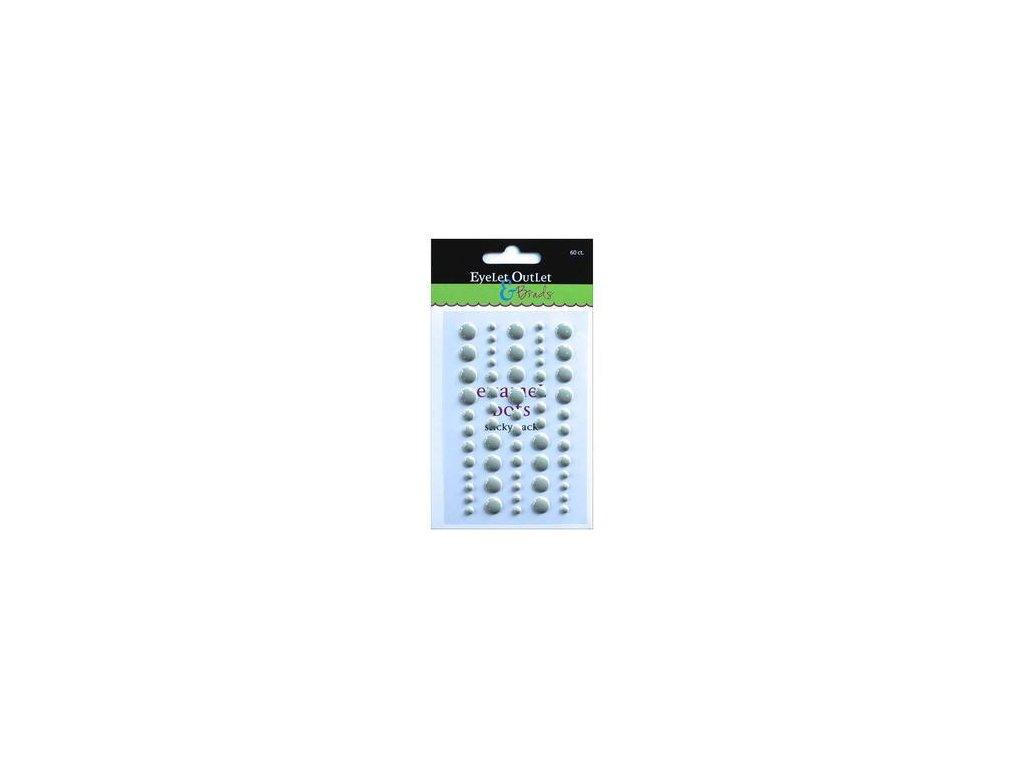 EYELET Outlet -  ADHESIVE /  GRAY - lesklé enamel dots, 60 ks