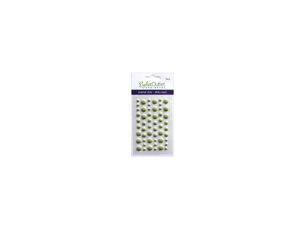 EYELET Outlet -  MATTE / GREEN - matné enamel dots