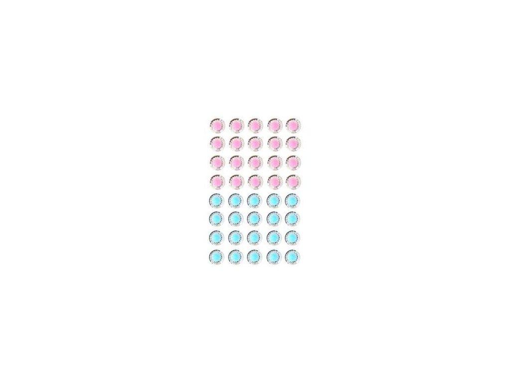 EYELET Outlet -  JEWELS /  PINK - BLUE - třpytivé samolepící ozdoby, 40 ks