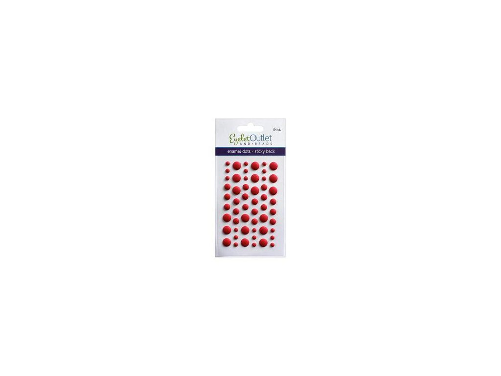 EYELET Outlet -  MATTE / RED - matné enamel dots