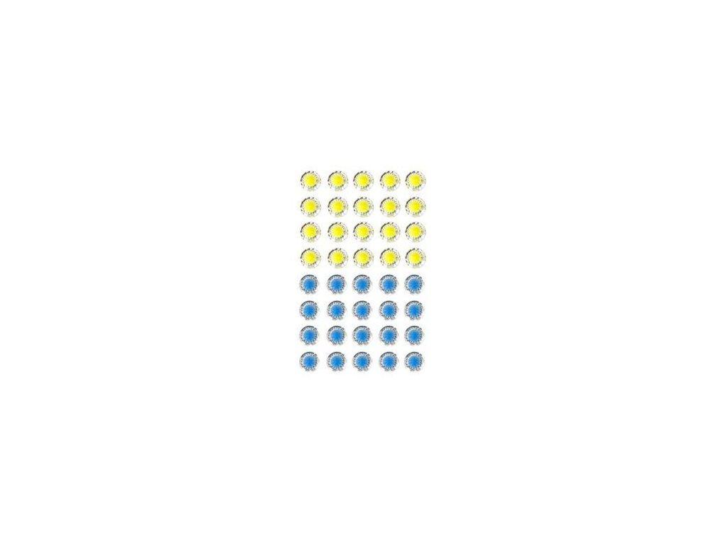 EYELET Outlet -  JEWELS /  YELLOW - BLUE - třpytivé samolepící ozdoby, 40 ks
