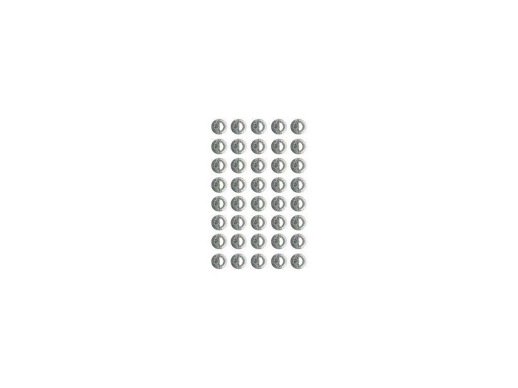 EYELET Outlet -  JEWELS /  CLEAR - třpytivé samolepící ozdoby, 40 ks