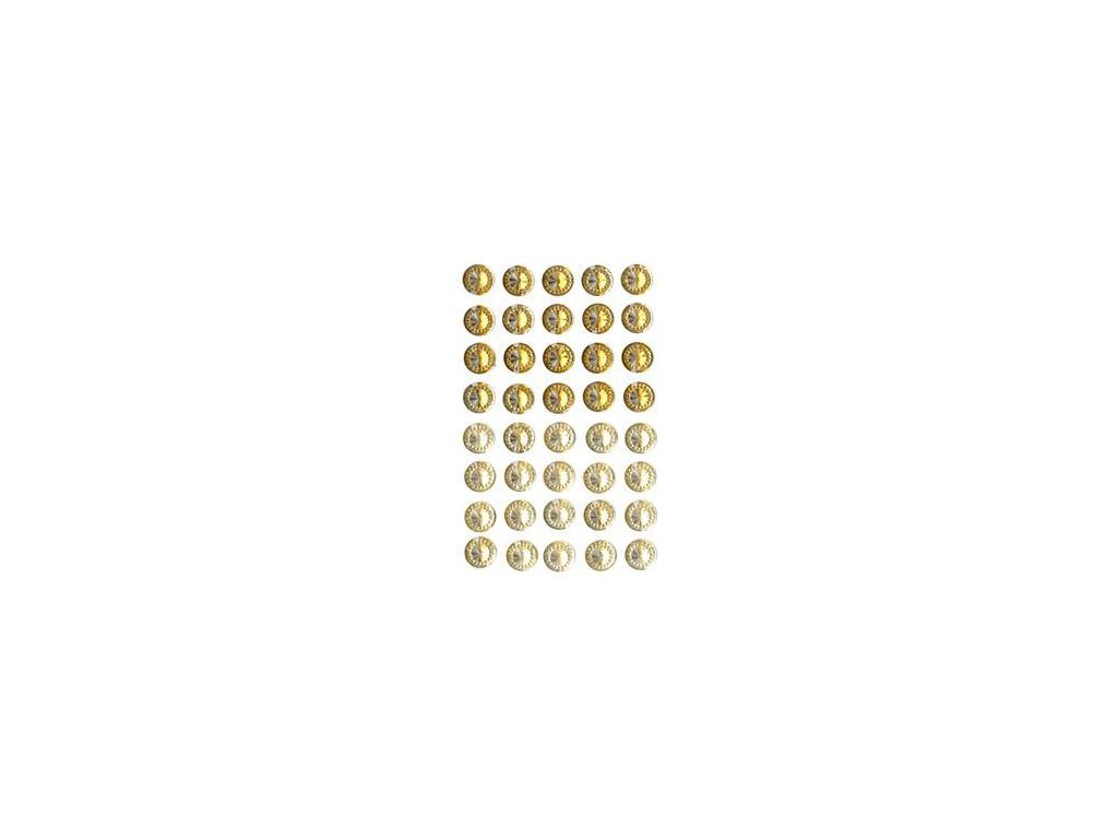 EYELET Outlet -  JEWELS /  CHAMPAGNE MIX - třpytivé samolepící ozdoby, 40 ks