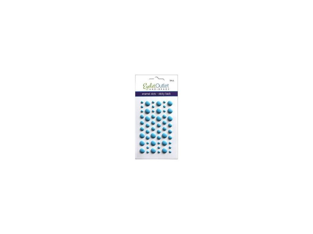 EYELET Outlet -  MATTE / BLUE - matné enamel dots