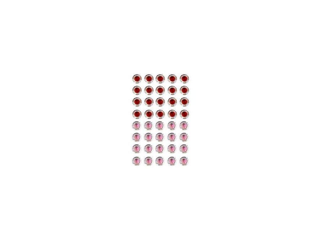 EYELET Outlet -  JEWELS /  RED - PINK  - třpytivé samolepící ozdoby, 40 ks