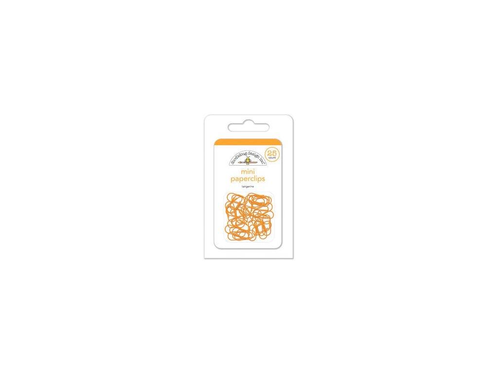 doodlebug mini paperclips tangerine 2