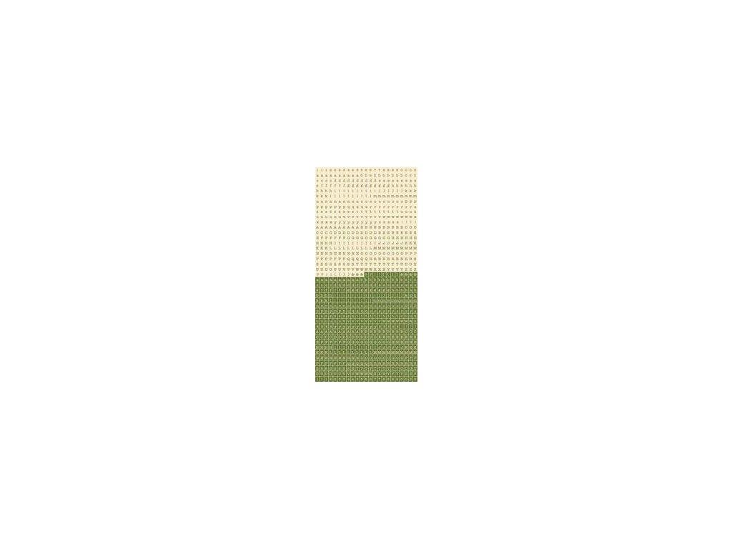 Kaisercraft - PIDI MINI ALPHAS / 520 - WHWATGRASS - samolepky