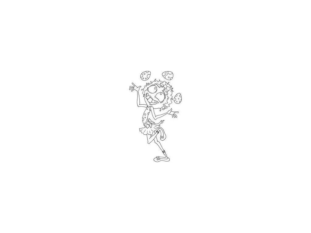 Joggles - THE EGG JUGGLER - cling gumové razítko