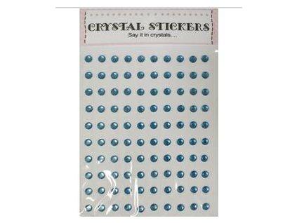 Crafty Impressions - CRYSTAL STICKERS - modré samolepící kamínky, 100 ks
