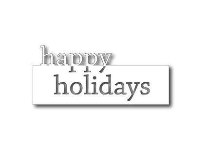 Memory Box - 98717 - GRAND HAPPY HOLIDAYS - vyřezávací kovová šablona