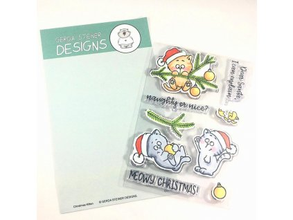Gerda Steiner Designs Clear Stamps Christmas Kitties GSD617 image1 03275.1508525773.1280.1280