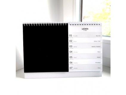 Stolní kalendář / černý - na rok 2018  na vlastní fotografie