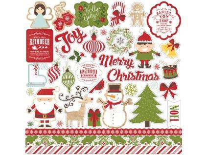 ILC114014 I Love Christmas Element Stickers