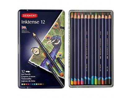 Derwent - INKTENSE -  akvarelové pastelky, 12 ks
