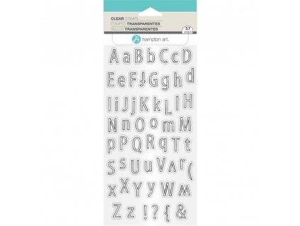 Hampton Art - ALPHABET OUTLINE - silikonová razítka pro scrapbook