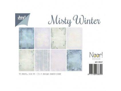 Joy - MISTY WINTER - A4  sada papírů, 12 ks