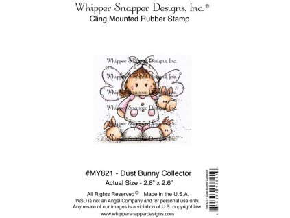 Whipper Snapper Designs - DUST BUNNY COLLECTOR - cling gumové razítko